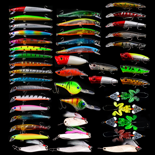 Hot Selling Stunning Hard and Soft Fishing Lures Set