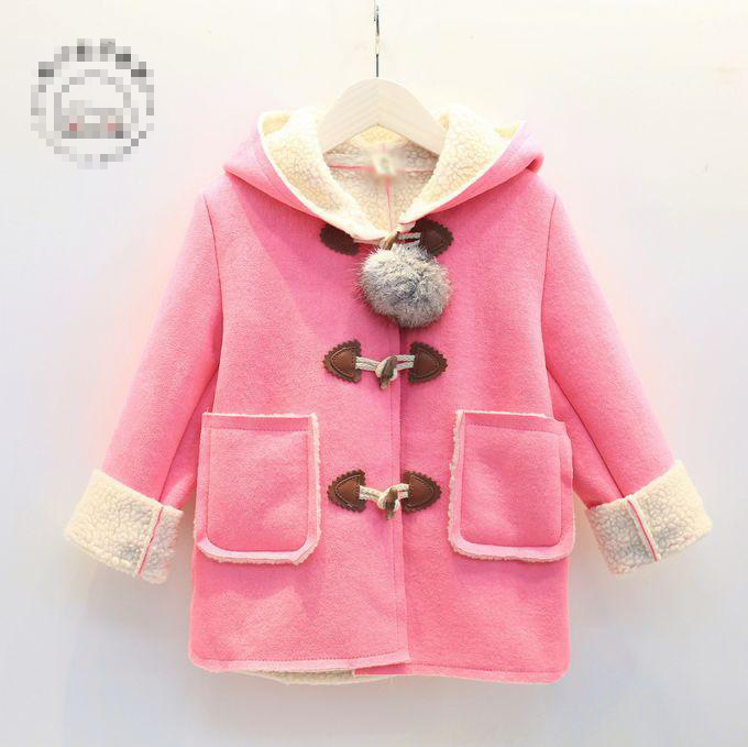def9c8c9b Winter Infant baby coat outwear roupa infantil girls cute baby jacket  toddler girl hooded thick velvet trench coat outerwear