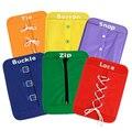 6 unid Kid Kit de Desarrollo Temprano Botón Snap Hebilla Zip Ata Para El Jardín de Infantes Los Niños Aprenden A Vestido de Corbata Shose