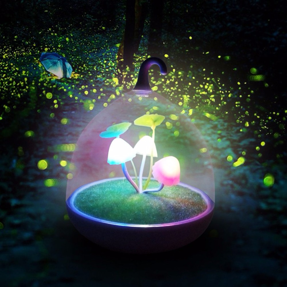 LED Light Toys Colorful Mushroom Lamp glow in the dark Touch Sensor Night Lamps