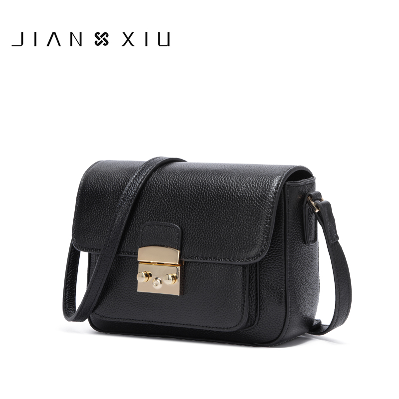 цены на JIANXIU Brand Women Messenger Bags Genuine Leather Bag Female Shoulder Crossbody Bags For Women Purse 2018 New Ladies Small Bags