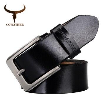 Capucha clásica de cuero genuino de vaca para hombre correa de hombre hebilla superior ajustable negro marrón café regalo envoltura envío gratis