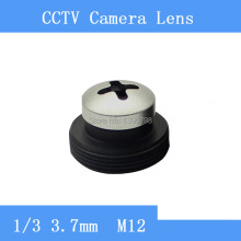 Infrared surveillance camera silver screw-shaped pinhole lens 3.7mm M12 thread CCTV lenses