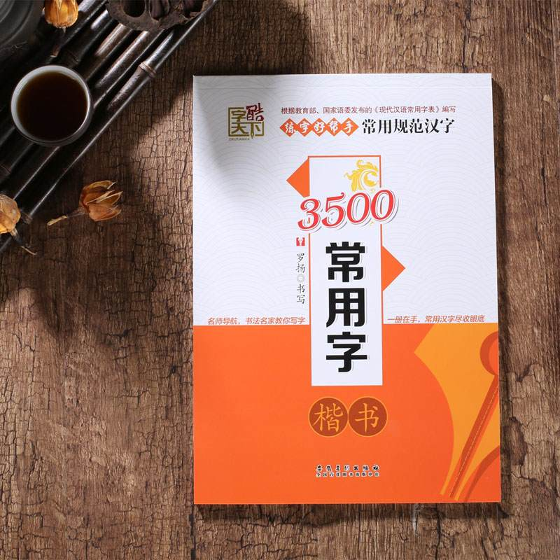 3500 Common Chinese Characters Calligraphy Copybook in kaishu learn Chinese for adults kids children art antistress libros