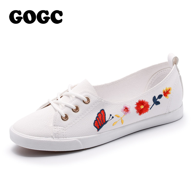 GOGC 2018 New Slipony Women Shoes Ladies Leather Shoes Breathable footwear Flat Shoes Women Fashion Women Sneakers Summer Autunm breathable women hemp summer flat shoes eu 35 40 new arrival fashion outdoor style light