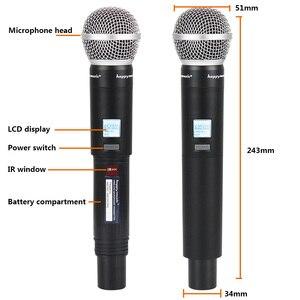 Image 3 - Nuovo di Alta Qualità UHF Professionale SU 10 Doppio Microfono Senza Fili Sistema di spettacoli teatrali a due microfono senza fili