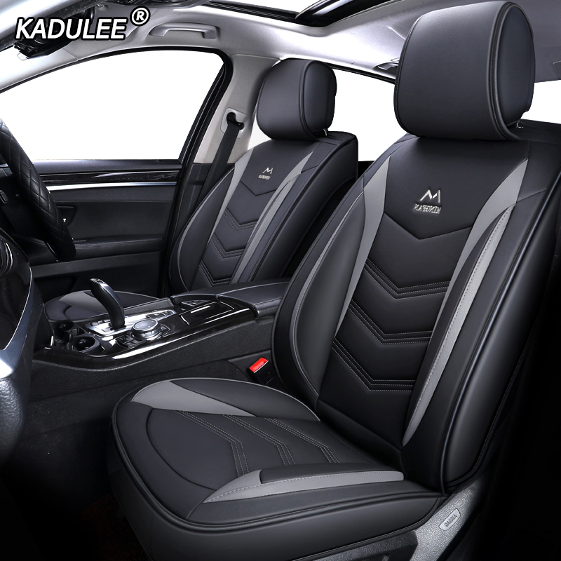 KADULEE Leather Car Seat Cover For Mitsubishi Pajero 4 Sport Outlander 3 Xl Lancer 9 10 Grandis ASX Colt L200 Accessories Auto