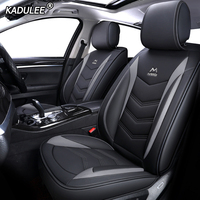 KADULEE Leather car seat cover for mitsubishi pajero 4 sport outlander 3 xl lancer 9 10 grandis ASX colt l200 accessories auto