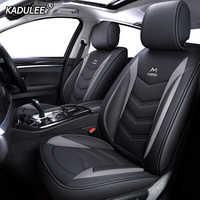 Kadulee couro capa de assento do carro para mitsubishi pajero 4 esporte outlander 3 xl lancer 9 10 grandis asx colt l200 acessórios automóvel