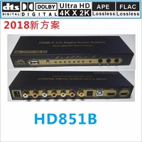 DTS AC3 5 1 Audio Decoder DAC 4K 2K HDMI To HDMI Extractor Converter USB Media