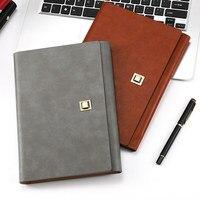 Hoge Kwaliteit PU Cover Spiraal Notebook A5 Bindmiddel Notebook Business Hard Cover Gevoerd Notebook
