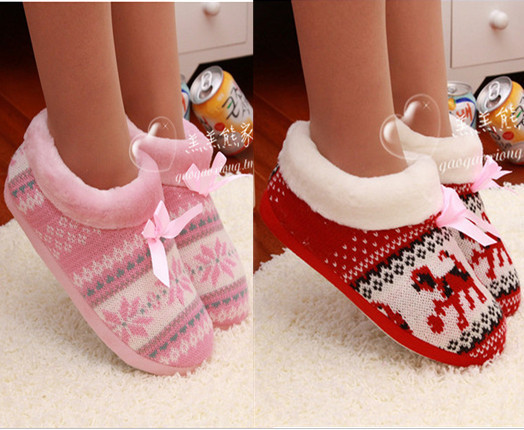7c6f2cfad35 Free shipping russian warm cashmere home woman slippers shoes autumn floor home  shoes christmas gift pantufa