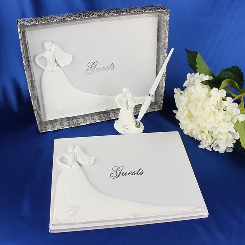 Wedding Ideas For 30 Guests: AsyPets Bride And Groom White Wedding Guest Book