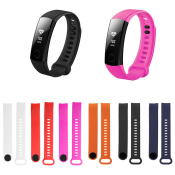 Watchband Strap For Huawei Honor Band 3 Replacement Silicone Black Wrist Bracelet Adjustable Universal Watch Strap
