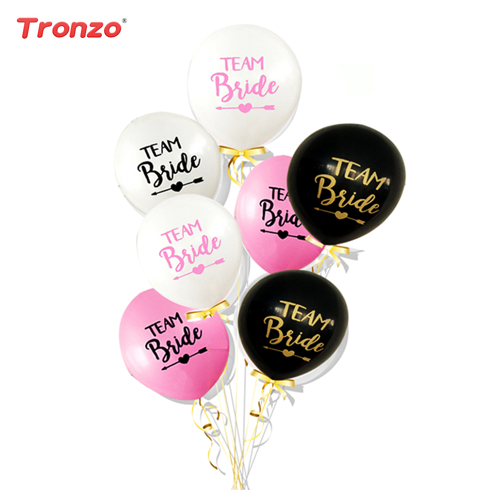 Tronzo Wedding/Party/Balloons Team Bride Balloons 10pcs