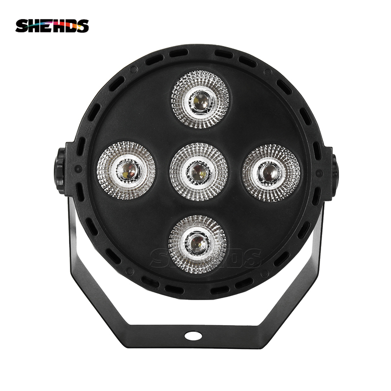 Mini LED Par 5x10W RGBW DMX512 Stage Effect Lighting Good For DJ Disco Birthday Party Dance Floor Bar Christmas Decorations
