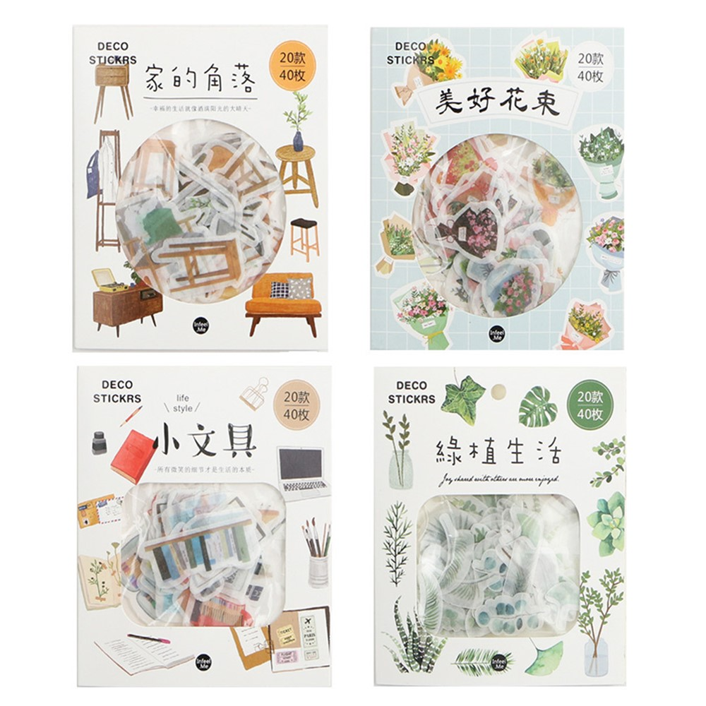 40pcs Happy Life Decorative Sticker Collection Planner Sticker for Scrapbooking,Calendars,Arts,DIY Crafts,Album, Bullet Journals40pcs Happy Life Decorative Sticker Collection Planner Sticker for Scrapbooking,Calendars,Arts,DIY Crafts,Album, Bullet Journals
