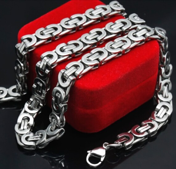 Mens Stainless Steel Byzantine Chains Nes