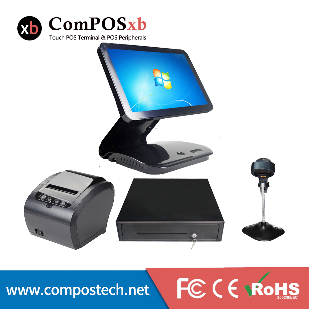Cheap pos system all in one windows 15.6 inch capacitive touch screen cashing machine For Restaurant point of sale pos system windows 7 test version 5 inch tft lcd touch screen all in one pos pc for restaurant