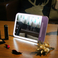 Mini Tablet Charging Touch Screen Desk Makeup Beauty Mirror Cosmetic LED Night Light FULI