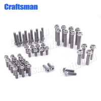 50Pcs Titanium Bolt M5x20mm M6x16 20 25 30mm M8x30 40mm Inner Torx Head Ti Screw for Most KTM Motorcycle Front Axle Kit Bolts