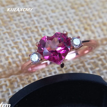 KJJEAXCMY Fine jewelry 925 sterling silver natural pure topaz female ring wholesale living mouth