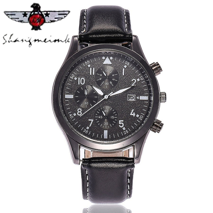SHANGMEIMK Brand Men Business Watches Luxury Fashion Casual Leather Men's Calendar Quartz Wristwatches Relogio Masculino Hot