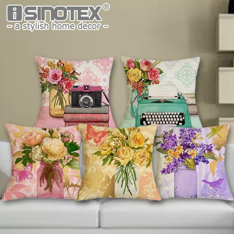 Us 30 Uroda Kwiaty Home Decor Sofa Fotelik Samochodowy Poduszki Dekoracyjne Poszewka Na Poduszkę Poszewka Capa Almofada Coussin Dekoracji 1 Sztuk