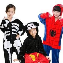 Кугуруми для детей пижамы детские пижама единорог пижамы для девочек Фланелевые детские пижамы; зимние пижамы с единорогом и Пикачу; детские пижамы для мальчиков и девочек; одежда для сна; комбинезоны