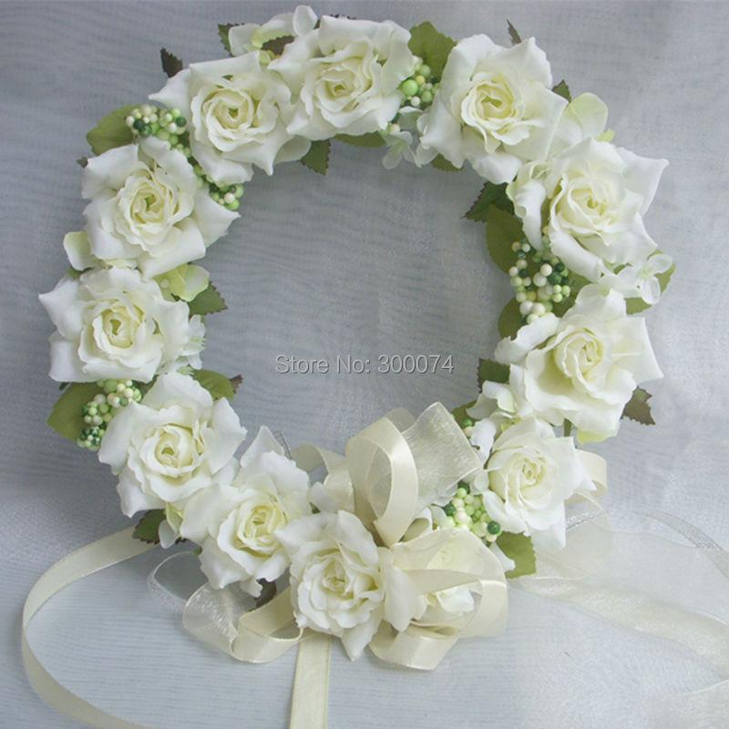 Flower Wreaths For Weddings: Artificial Decorative Flowers Wreaths Wedding Flower Head