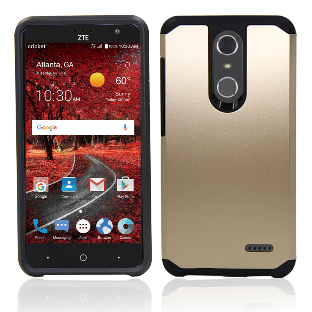 2 In 1 Silicone TPU + Hard PC Hybrid Armor Case Shockproof Protective Cover For ZTE Grand X4 Z956/AT&T ZTE Blade Spark 5.5inch