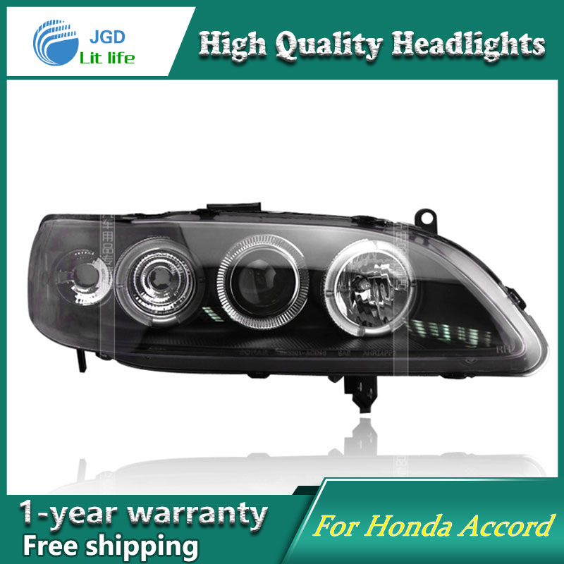 JGD Brand New Styling for Honda Accord LED Headlight 1998-2002 Headlight Bi-Xenon Head Lamp LED DRL Car Lights jgd brand new styling for audi a3 led headlight 2008 2012 headlight bi xenon head lamp led drl car lights