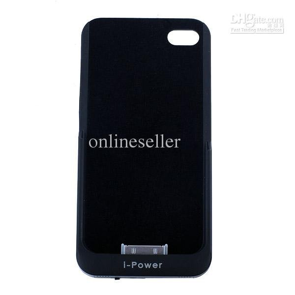High-grade 2200mAh External Power Pack Backup Battery Back Case Battery for 4S Black