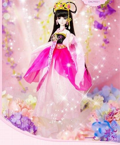 Nueva llegada 11 ''muñeca BJD 14 muñecas articuladas pelo de princesa + maquillaje + paño + zapatos-in Muñecas from Juguetes y pasatiempos    2