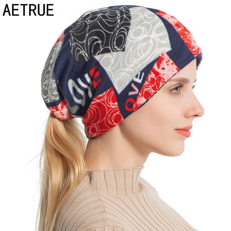 AETRUE Women Skullies Beanies Knitted Hat Scarf Female Winter Hats For Women Bonnet Balaclava Neck Mask Feminino Beanie Hat Cap