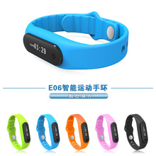 2015 New Sensible Wristband Xiaomi Mi Band E06 Contact Display screen   Bracelet For Android IOS Waterproof Tracker Health Wristbands