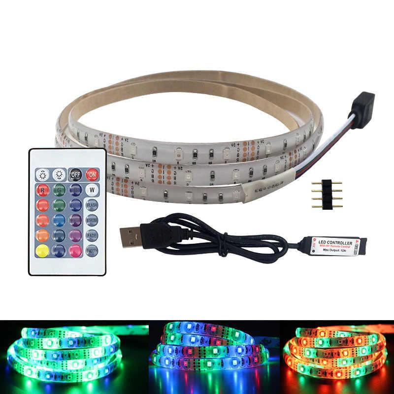 5 в 50 см 1 м 2 м 3 м 4 м 5 м USB кабель питания светодиодный светильник SMD 2835 Рождественский стол Декор лампа лента для ТВ фоновое освещение