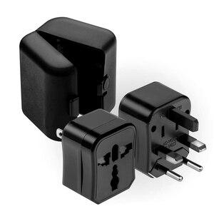 Image 3 - Adaptador de toma Universal para viaje, convertidor de enchufe para el hogar, 3 enchufes de toma, enchufe para EE. UU./AU/EU/UK