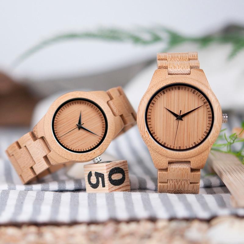 BOBO BIRD Bamboo Lovers Watches Timepieces Ағаш тобы - Әйелдер сағаттары - фото 5