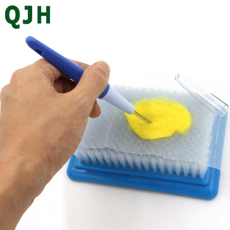 Новый QJH ручка 3 иглы шерсть войлочная игла русская poking-poking happy, сменный штифт DIY ремесло вышивальные инструменты RX079