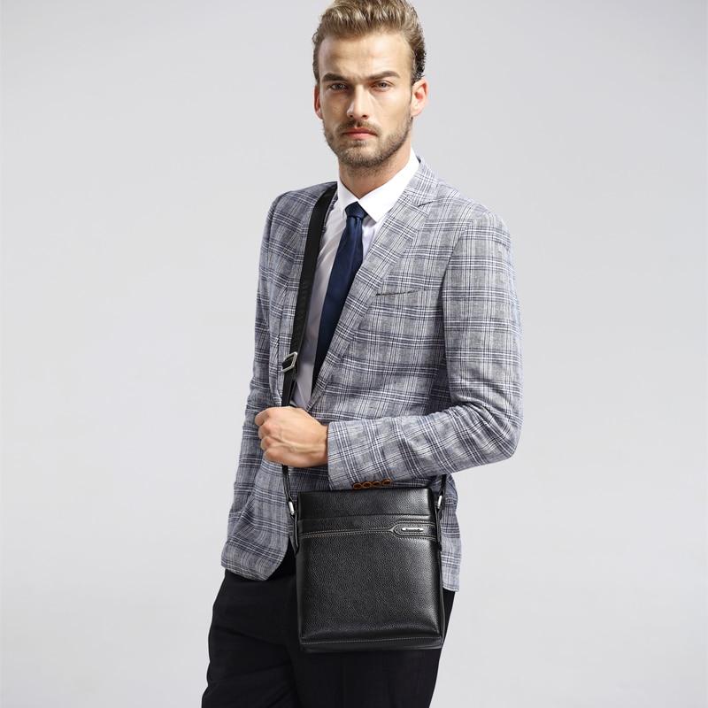 LAORENTOU Hombres de cuero genuino Business Messenger Bag Side - Bolsos - foto 6