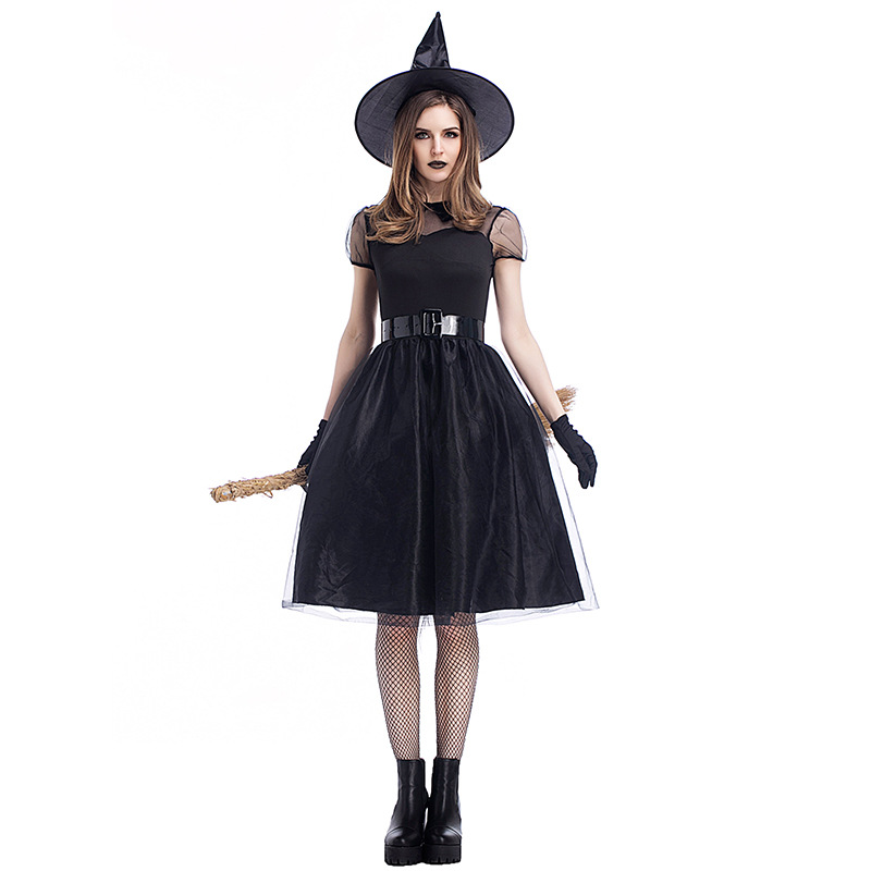 2018 Adult Witch Costume Halloween Witch Dress Sexy Costumes For Women Halloween Christmas Costume Long Purple Swallowtail Dress
