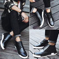 JARLIF New 2017 Winter High top Walking Shoes Men Flat Heel Lace up Fashion Men's Casual Shoes Brand Man Classic Black Cool