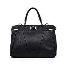Designer Qualität Aus Echtem Leder frauen Hangbag High-end Rindsleder Weiblichen Umhängetasche Mode Casual Umhängetasche