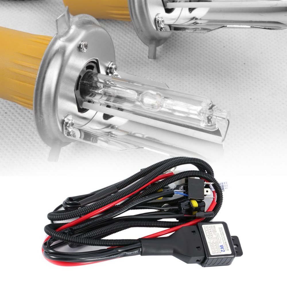 Universal 35w 12v Xenon Headlight Wiring Harness Hi Lo Hid Battery Relay Wire Controllor Cable For Car Auto Headlamp In From Automobiles