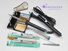 Physics tools 50 Watts Electric Soldering Iron Solder Tool Kits,fixing Radios & Electronics products 11 parts package