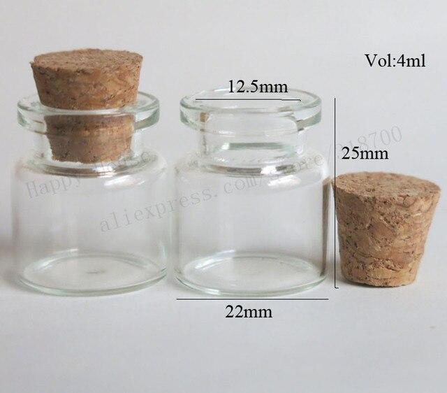 100 teile los 4 ml mini klare glasflaschen fl schchen mit kork 4cc kleine leere glas korken. Black Bedroom Furniture Sets. Home Design Ideas