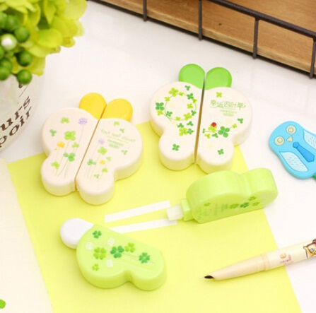 2pcs/pack/lot New Sweet Butterfly Clover Correction Tapes Set Good Quality Fashion Gift Office Material School Supplies