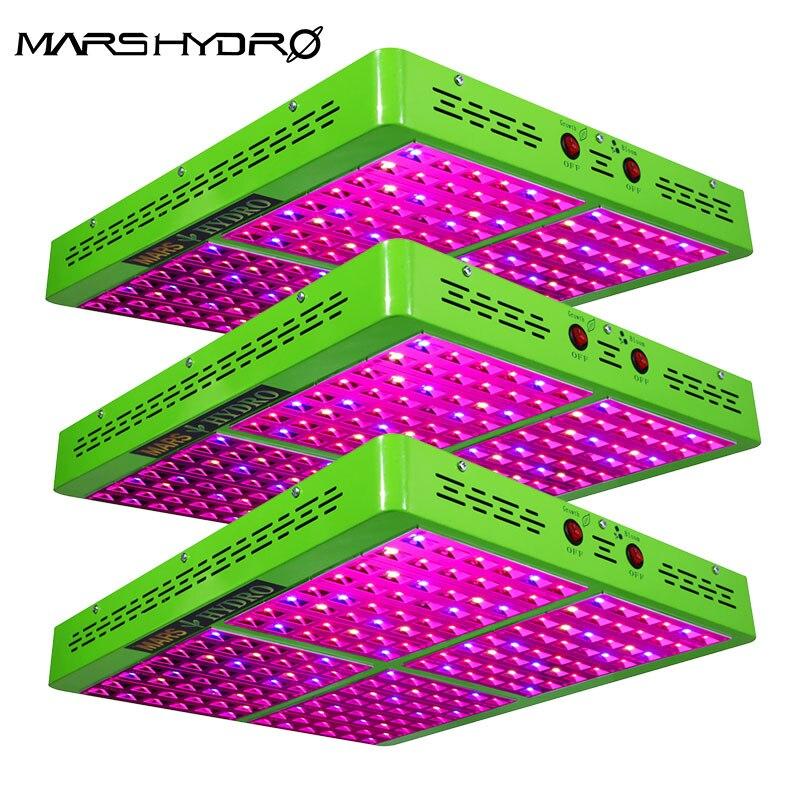 Mars Hydro 3 pièces Réflecteur 1000 W LED Spectre Complet Pousser La Lumière Hydroponique Élèvent La Lumière pour le Jardin D'intérieur lumières croissantes