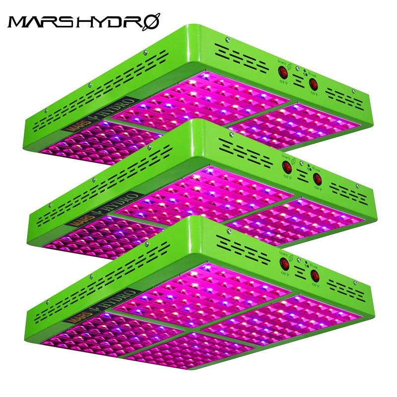 Mars Hydro 3pcs  Reflector 1000W LED Full Spectrum Grow Light Hydroponic Grow Light For Indoor Garden Growing Lights